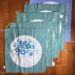 【新品】座布団カバー 夏用 55×59cm 5枚