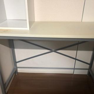 机と棚のセット