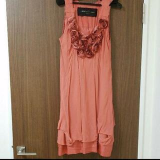 ドレス サーモンピンク