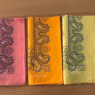 新品☆バンダナ綿100% 自作マスクに‼︎バラ売可 数十枚…