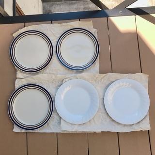 【あげます】昭和レトロな大皿3枚+白洋大皿2枚セット
