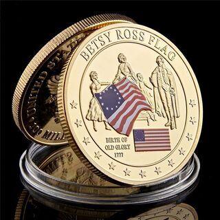 【希少】1777 Betsy Ross Flag アメリカの歴史コイン