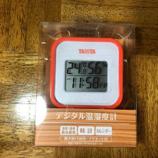 【決まりました】タニタ 時計・カレンダー付デジタル温湿度計