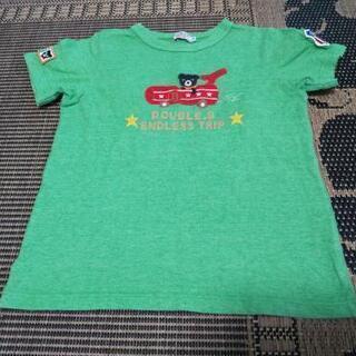美品★ミキハウスダブルB130Tシャツ夏★ワッペンいっぱい