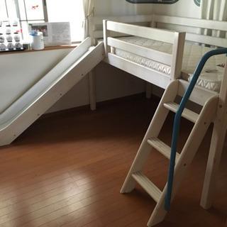 デンマーク製 フレクサ正規販売店 すべり台付きベッド