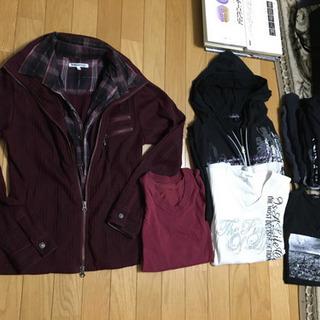 500→300円‼️値下げ‼️2枚セット、えんじ色のジャケット&...