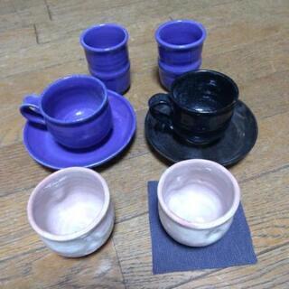 陶器 ペア8点セット