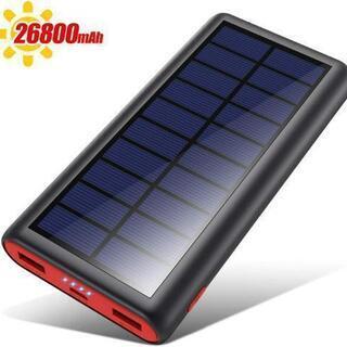 モバイルバッテリー ソーラーチャージ 26800mAh 急速充電...