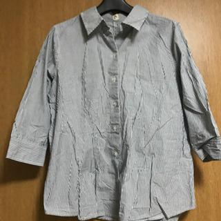 【Lサイズ】 7分丈 ストライプ  シャツ