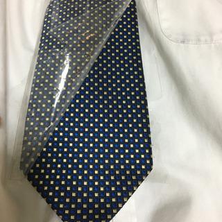 値下げ‼️青と黄色柄のネクタイ、1本、難あり、コメント下さい