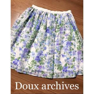 ☆Doux archives☆ドゥアルシーヴ  チェックフラワー...