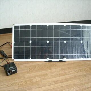 (引き取り決まりました)ソーラーパネル 50W <パネルのみお譲...