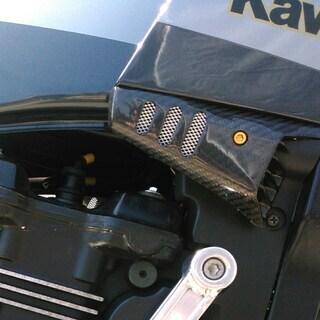 GPZ900R アッパーカウルエンド左右 カーボン柄 純正ラジエター用