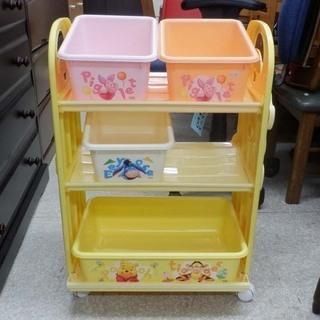 オモチャ箱 プーさん 3段 カラフル 可愛い おもちゃ棚 …