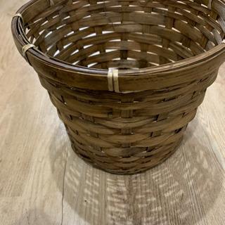 かわいい竹カゴ ゴミ箱や植木鉢カバーに^ ^