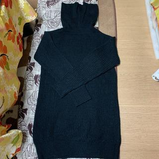 セシルマクビー ロングセーター 黒 サイズM