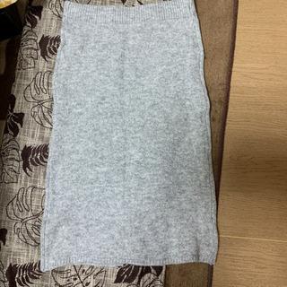 ニットスカート グレー サイズL 新品
