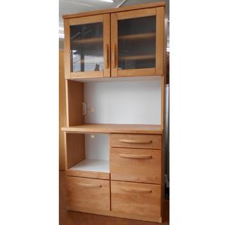 ♪入江木工 食器棚/レンジボード/キッチンボード 90×1…