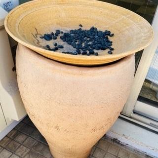 陶器 デザイナー 置物 傘立て 小物 オブジェ ベージュ
