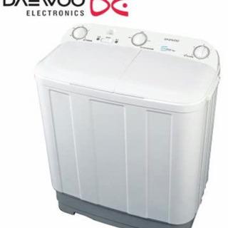新品 未使用 17年製 DAEWOO 2層式洗濯機
