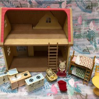 シルバニアファミリー 赤い屋根のおうちセット すぐに遊べる!