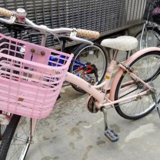 自転車女の子22インチ