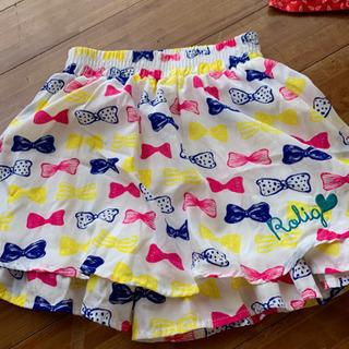 サイズ130  女児パンツスカート