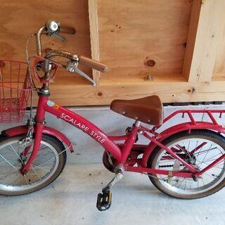 16インチ自転車(赤色)