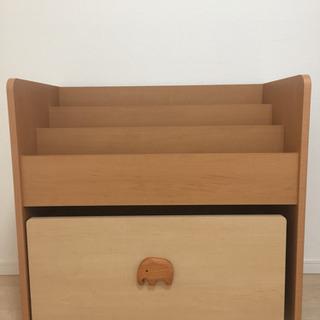 絵本棚おもちゃ収納付  ピノコロ  ブックシェルフ