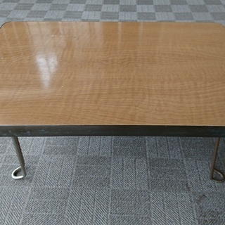 木製折り畳みミニテーブル