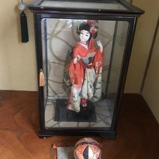 舞妓さん人形 ガラスケース付き