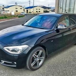 BMW116iスポーツ 限定赤革 純正ナビ