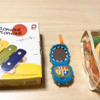 木琴+タイコ(布製)+携帯型おもちゃセット