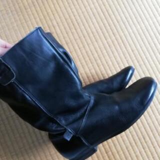 レディース 革ブーツ ミドル丈 23㎝