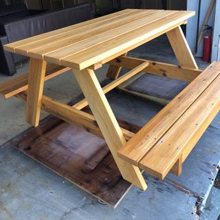 【ネット決済】木製ピクニックテーブル ガーデンテーブル