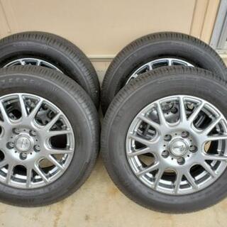 ほぼ新品 アルミタイヤセット4本 夏タイヤ15インチ