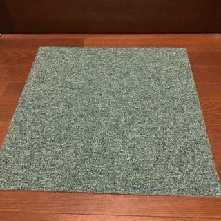 タイルカーペット 6枚セット グリーン系 美品♪
