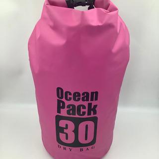 ★防水バッグ 円筒型 大容量 30L ピンク  新品★