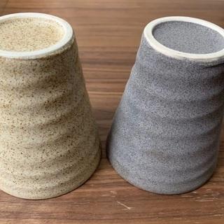 陶器 ペアカップ 夫婦湯呑