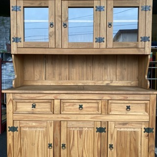 食器棚 レンジボード ナチュラル カントリー調 収納棚 中古品