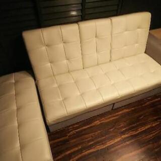 ソファーベッド 2・3人掛け用 引き出し有 白