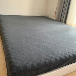 ダブルベッド すのこベッド ウレタンマットレス