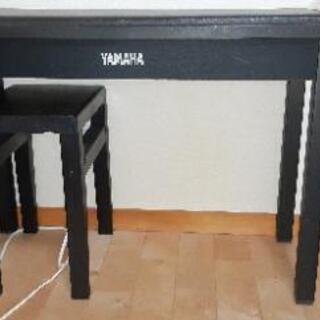 ヤマハ鍵盤楽器用椅子高さ60cm長さ77cmです。