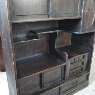 飾り棚A 茶箪笥 食器棚 アンティーク