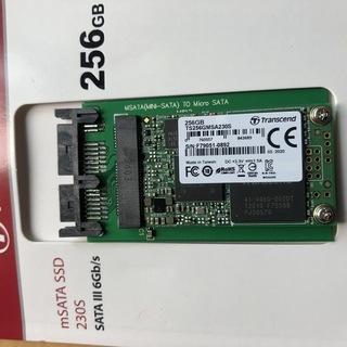 mSATA SSD256GB Transcend製(ソリッドステ...