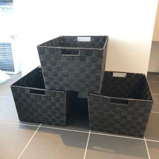 収納ボックス4つ ブラウン の画像