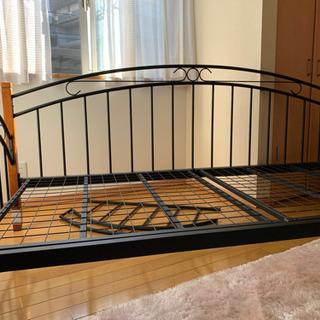 お洒落なデザインのほぼ新品ベッド
