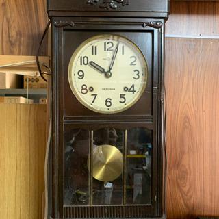 【取引中】昭和レトロ、SEIKOSHAはしら時計