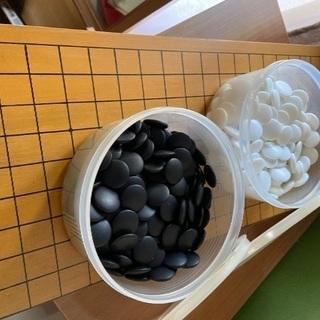 差し上げます 折りたたみ式碁盤と碁石