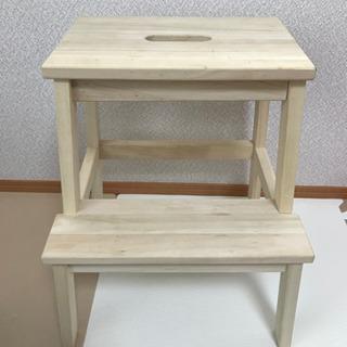 木製 イケア 脚立